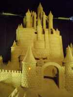 Sand sculpture castle